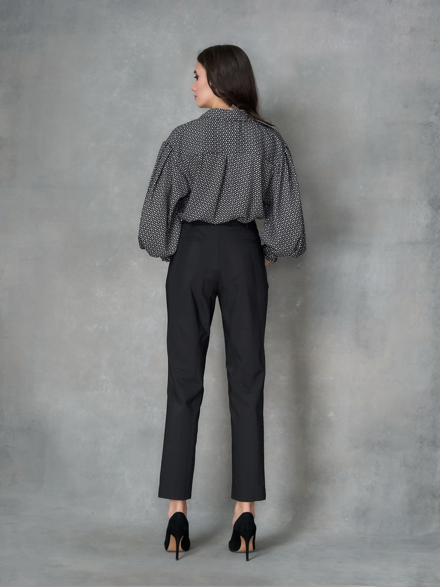 Рубашка-боди черно-белая
