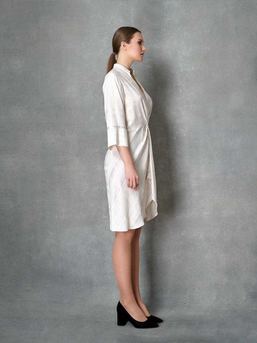 Платье в металлизированную полоску
