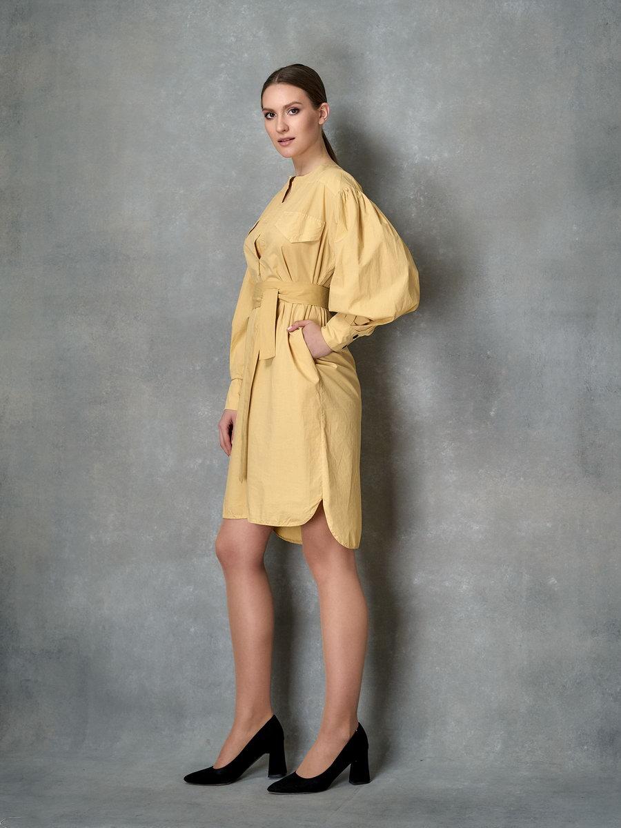 Платье кукурузного цвета