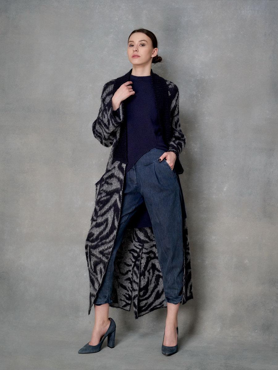 Вязанное пальто-кардиган