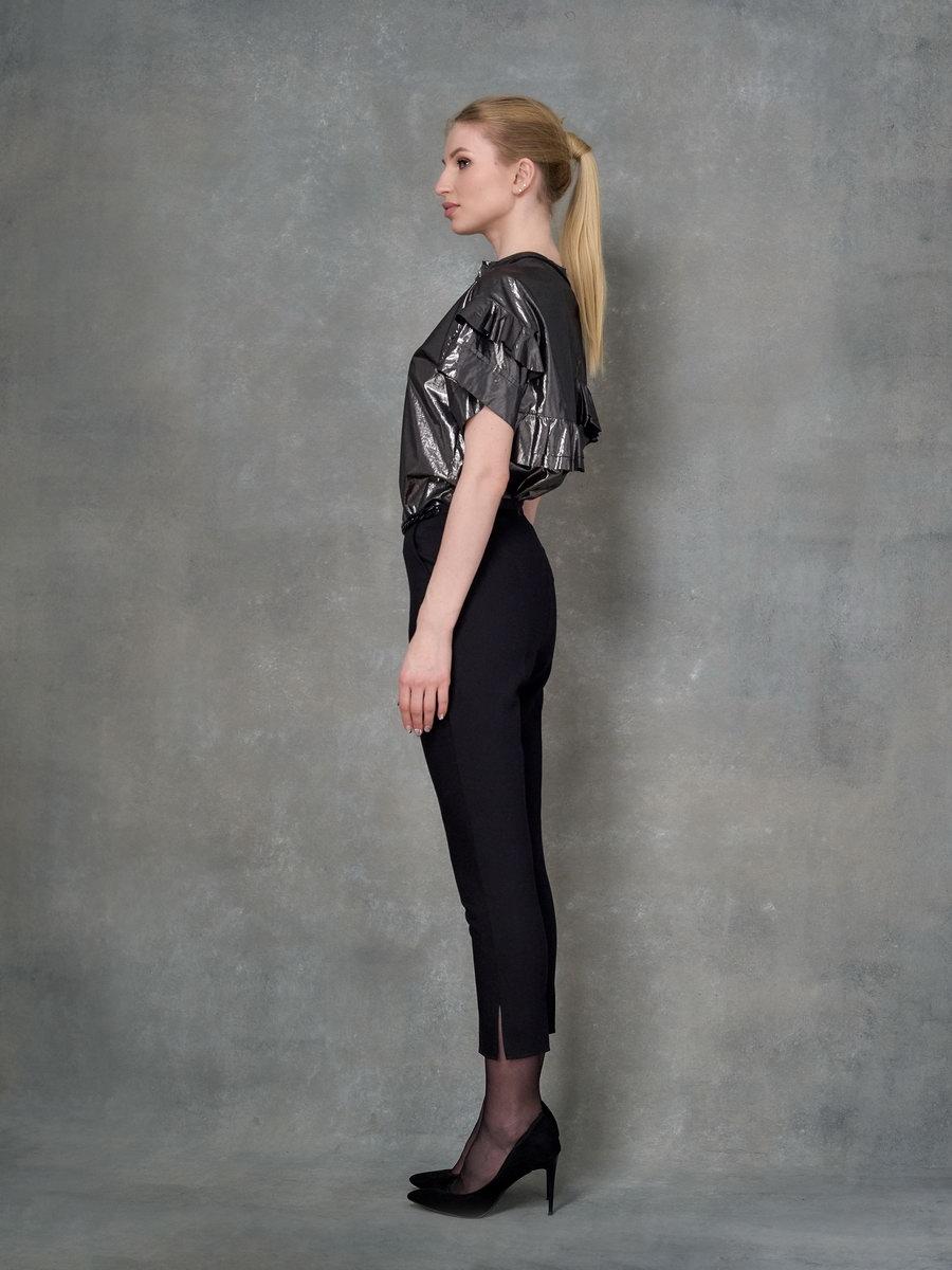 Блуза металлик  с крылышками