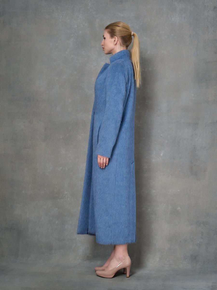 Пальто однобортное в пол