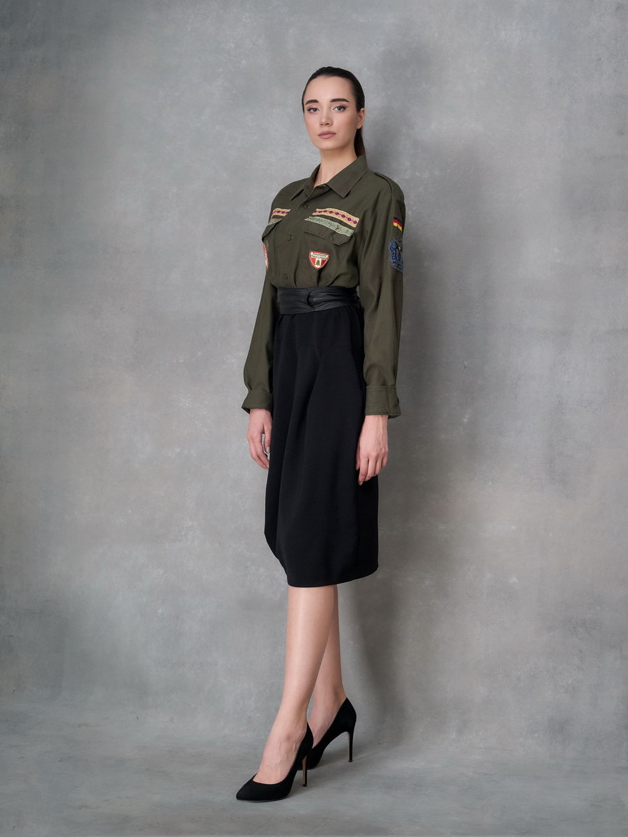 Платье милитари