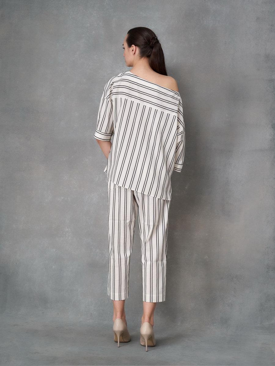 Блуза полосатая