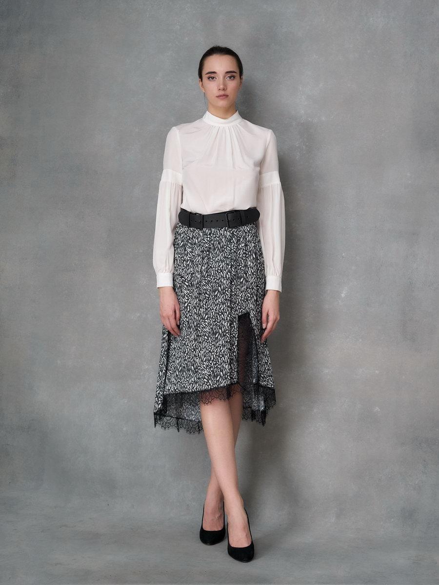 Блуза белая шелковая