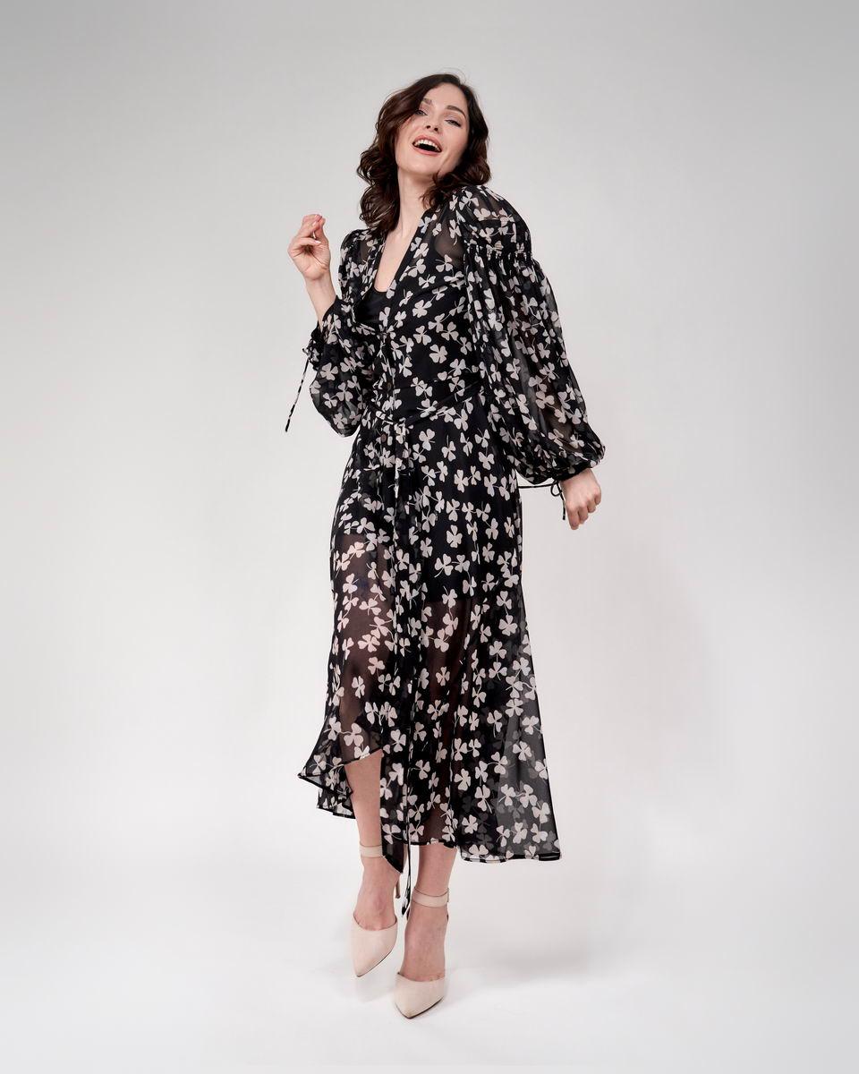 Легкое платье макси с цветочным принтом