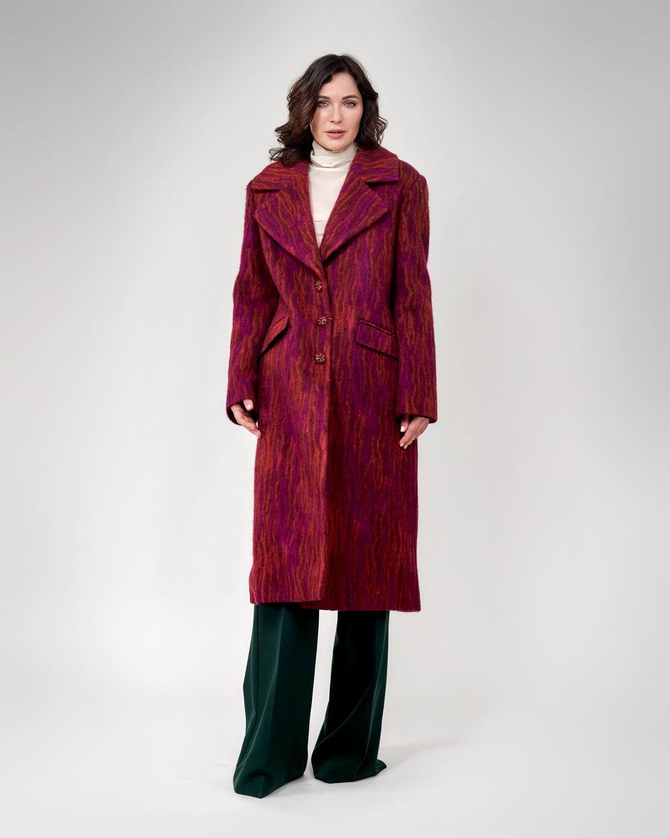 Пальто однобортное классическое