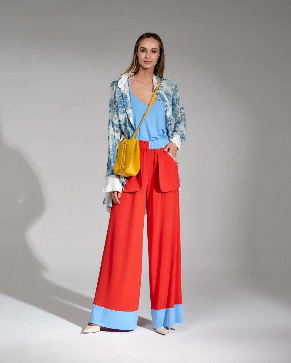 Рубашка оверсайз с тропическим принтом