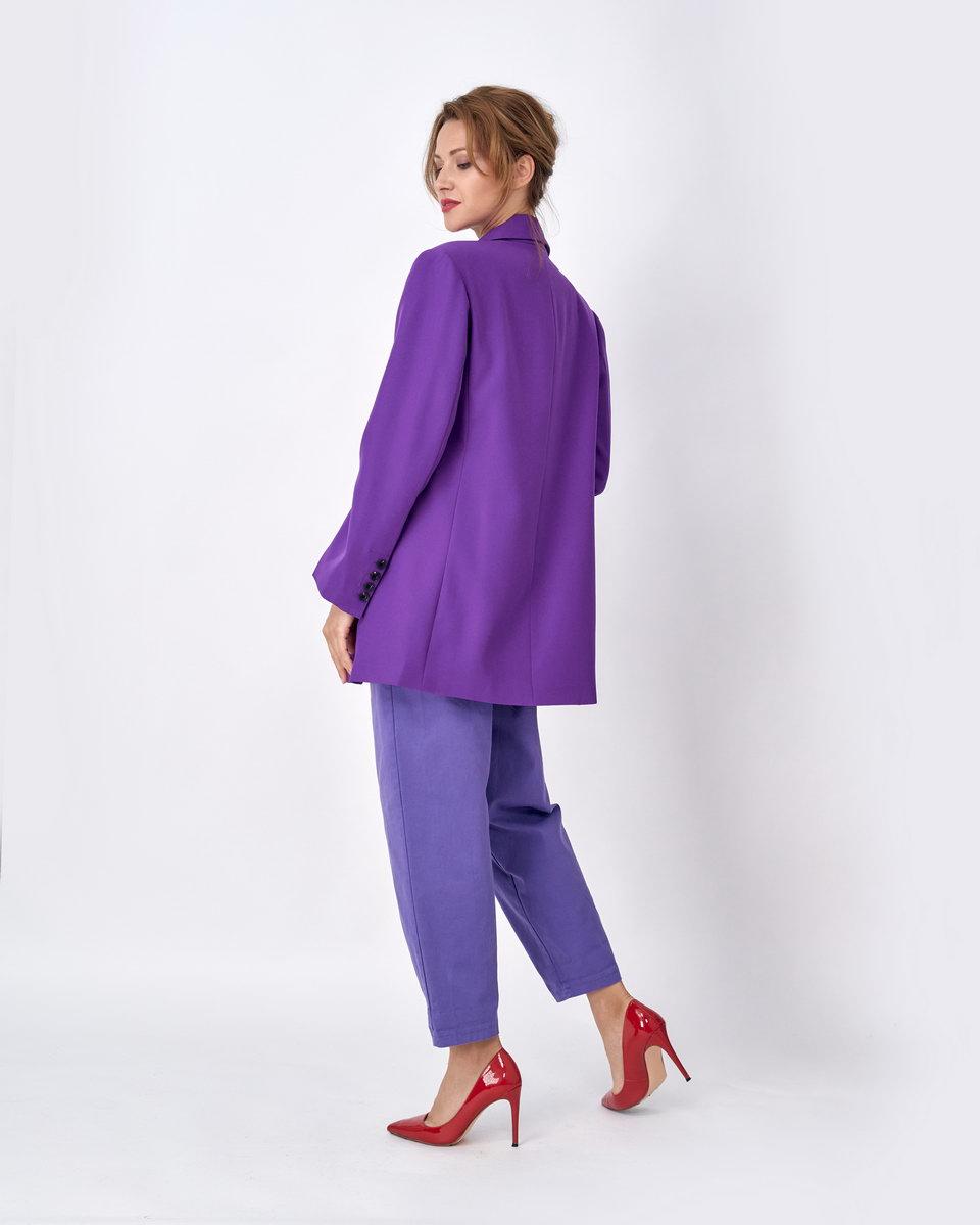 Жакет двубортный over size фиолетовый