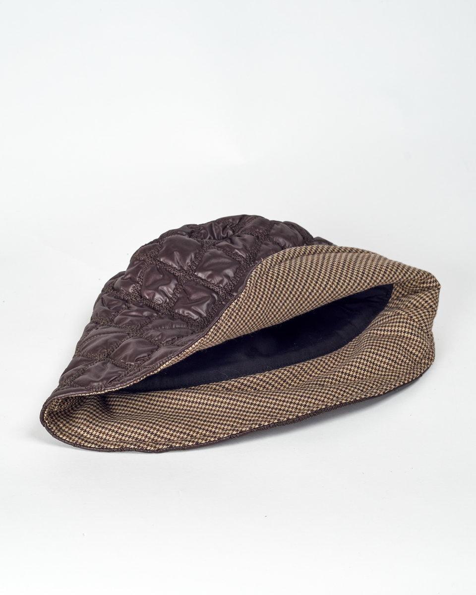 Панама стеганая коричневая
