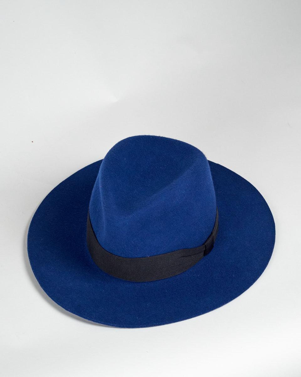 Шляпа синяя